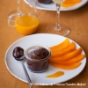 Ganache de chocolat amer et son coulis de mangue ...