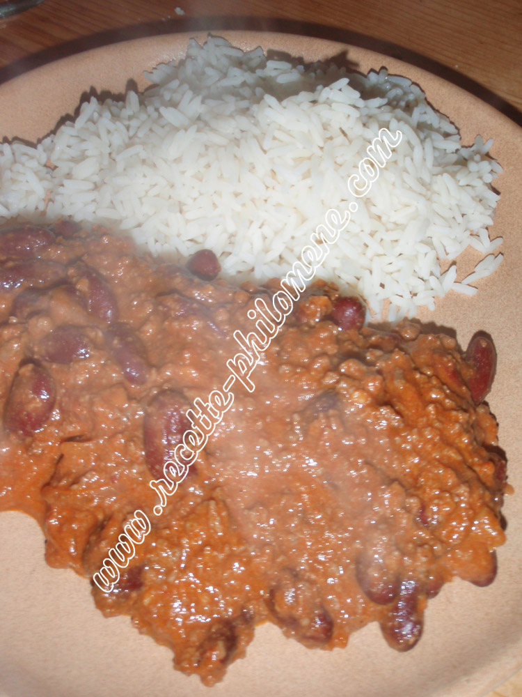 Photo de la recette : Chili con carne