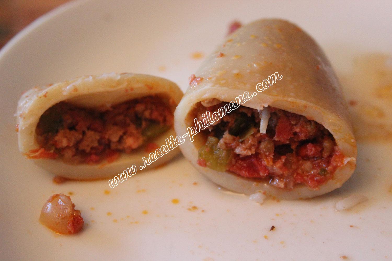 Encornets farcis au chorizo et la viande hach e plats - Chorizo a griller recette ...
