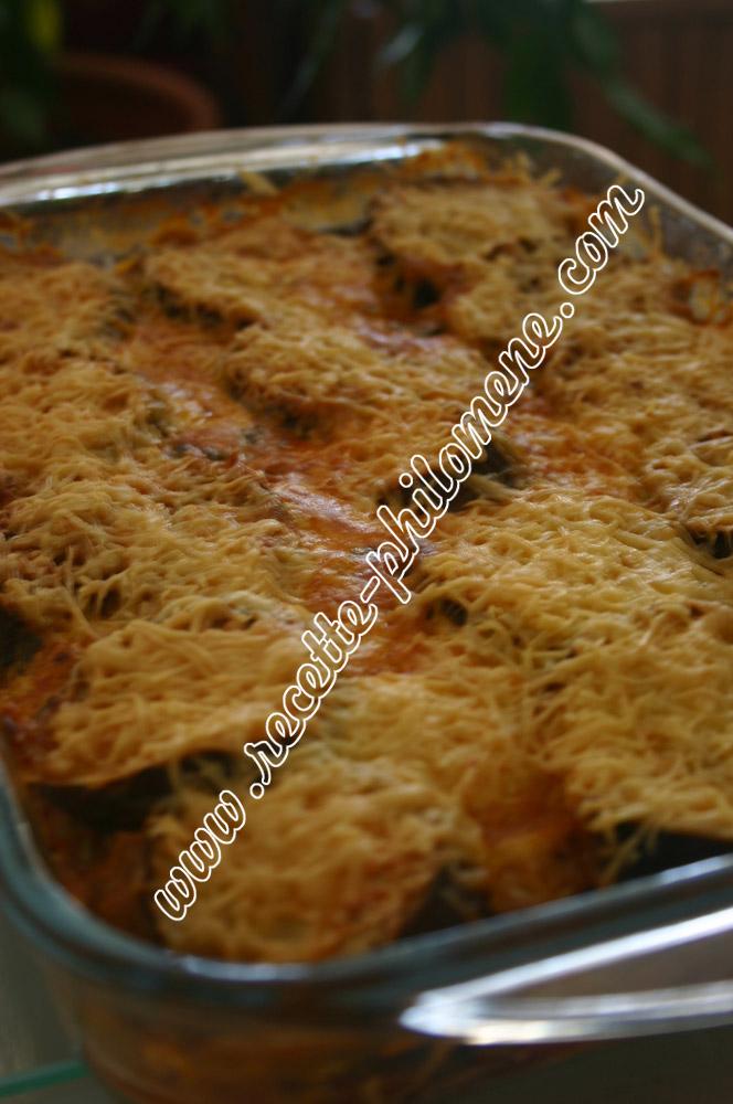 Gratin d 39 aubergines la tomate plats - Aubergine a la poele ...