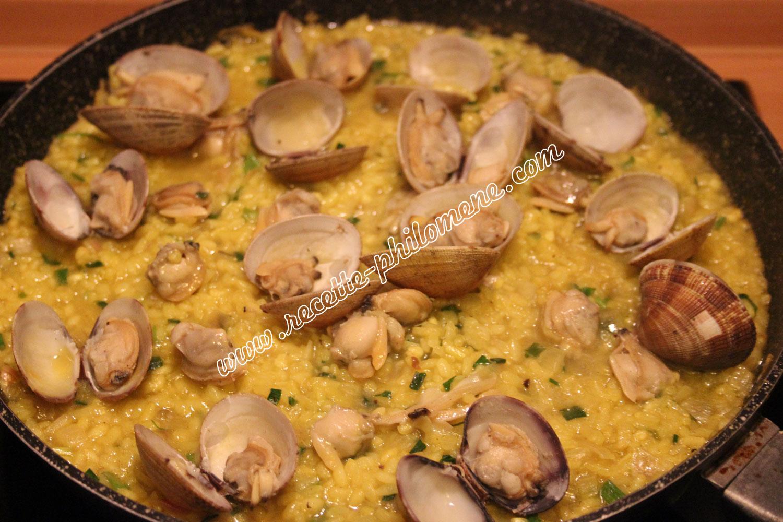 Risotto recette for Cuisiner des palourdes