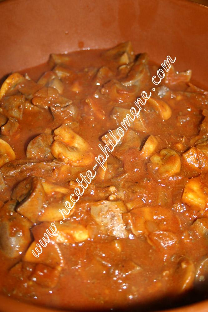 Rognons de porc la sauce tomate piquante plats - Cuisiner des rognons de porc ...