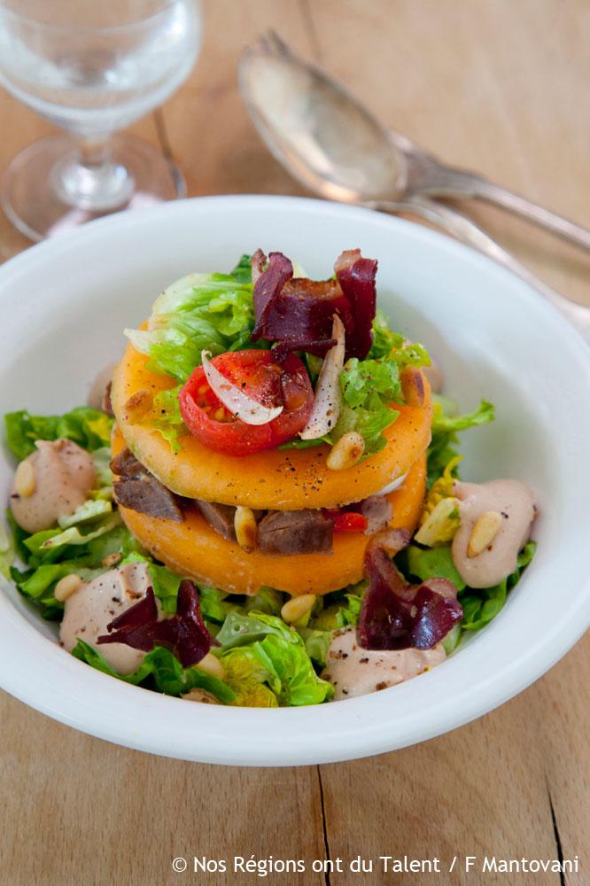 Salade landaise estivale entr es for Entree estivale